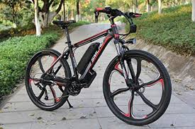 <b>SMLRO C6</b> 26 Inch <b>Electric</b> Mountain Bike Integrated Wheel, 500w ...