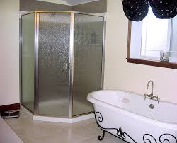 single swing shower door glass panels