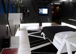 bedroom master decorating ideas on a budget with striped style rugs and black white furnitures then 13 fabulous black bedroom ideas