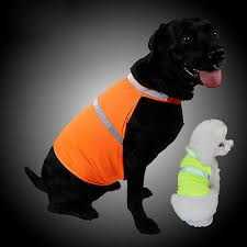 Fluorescent <b>Security Dog</b> Reflective Vest <b>Clothes Safety Waterproof</b> ...
