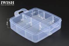 <b>1Pcs</b> Plastic <b>Clear Fishing</b> track Box with 10 Compartments ...