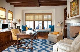 splashes of yellow and blue in the elegant home office design astleford interiors blue home office