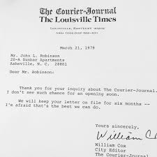 the best rejection letters i ever got media disrupted bear in mind i wasn t applying for an internship i was at the asheville citizen in my second reporting job at the time