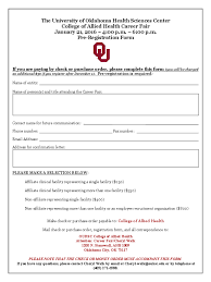 job fair registration form 2 templates in pdf word excel 2016 job fair registration form the university of oklahoma
