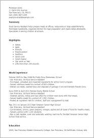 Professional Food Service Assistant Templates to Showcase Your     Resume Templates  Food Service Assistant