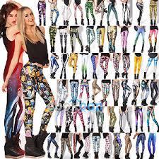 UK 3D Graphic Printed Leggings Skinny <b>Slim Fit</b> Pants <b>Yoga Gym</b> ...