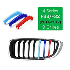 For 4 Series F33/F32 2014-2018(9 Grilles)-Kidney Grills Insert ...