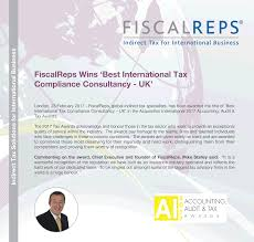 fiscal reps limited linkedin proud to have won best international tax compliance consultancy uk