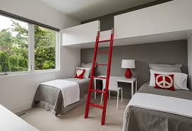 view in gallery a loft bunk bed and workstation idea perfect for the adult bedroom bedroom loft bed desk combo