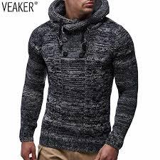 2018 Autumn <b>Winter</b> Men's <b>Turtleneck Sweater Pullovers</b> Male Slim ...