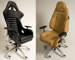 sportscar office chairs made from lamborghini ferrari porsche and corvette seats bmw z3 office chair seat