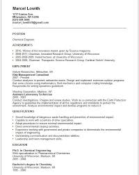 chemical engineer resume example free templates collection resume format for chemical engineer