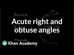Acute, <b>right</b>, & obtuse <b>angles</b> (video) | Khan Academy