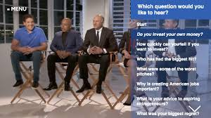 the sharks of shark tank dish in abc news interactive from breaking news to man on the street reporting the interactive experiences marry the web s most popular