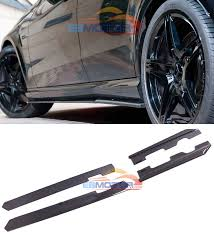 VZ STYLE Real <b>Carbon Fiber Side</b> Skirt skirts 1pair for BMW 1 ...