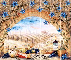 splash tile images kitchen mural ideas tuscan window mural backsplash tuscany arch ext x kitchen back splash