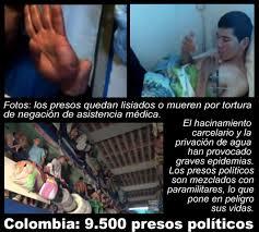 Resultado de imagen para presos politicos colombia salud