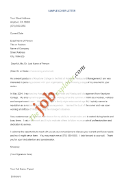 samples of application letters for employment resume cover letter template template net
