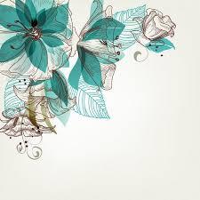 ᐈ <b>Бирюза цветы</b> векторные картинки, иллюстрации <b>цветы</b> ...
