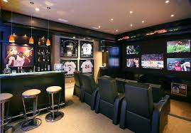 contemporary homerun trendy home theater photo in other awesome home bar decor small
