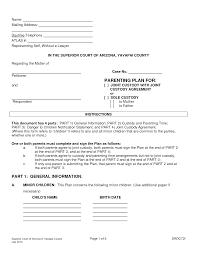custody agreement templates template custody agreement templates