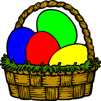 Image result for Easter basket clip art