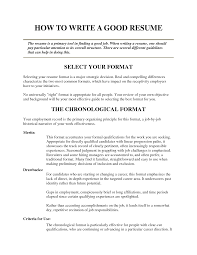 tips for writing a good resume tk category curriculum vitae