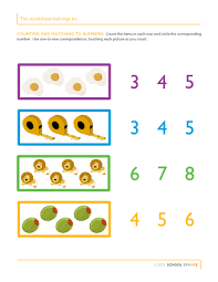 Counting Worksheets - School SparksKindergarten Worksheets > Math/Number Awareness > Counting in order