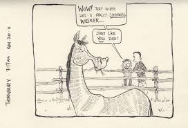 horse the art of dad perception is very different than reality for a 6 year old but i ll take it