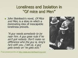 of mouse and man essay loneliness