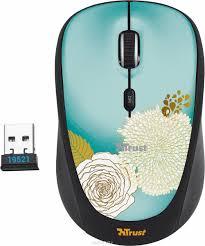 <b>Мышь Trust Yvi Wireless</b> Mouse, Black Flower — купить в интернет ...