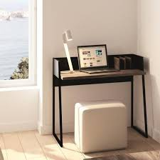 compact office desk. volga modern compact office desk in matte and walnut finish c