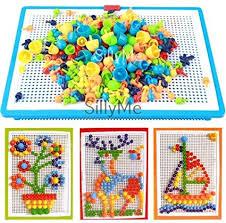 Buy SillyMe <b>Creative Jigsaw Puzzle</b> Building Nails Blocks | Colorful ...