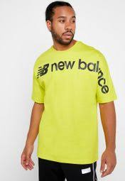 Shop New Balance yellow <b>Sportstyle Optiks Oversized</b> T-Shirt ...