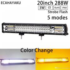 <b>ECAHAYAKU</b> High Intensity <b>20inch</b> Off-road LED Light Bar 6000K ...