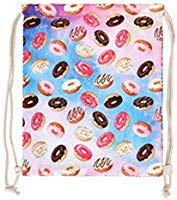 Personality <b>Donut Pattern</b> Backpack Drawstring Backpack High ...