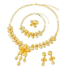 Liffly Fashion Indian Jewelry Set for Women Yellow ... - Amazon.com