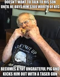 An Ungrateful Fat Pig | Angry Grandpa | Know Your Meme via Relatably.com