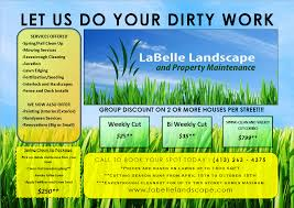 couvers access ideas for landscaping flyers lawn care flyer template