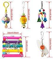 Amazon.com : BWOGUE <b>5pcs Bird Parrot</b> Toys Hanging Bell <b>Pet</b> ...