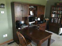 desk area before the home office remodel from walking on sunshine recipes budget friendly home offices