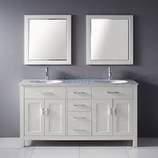 55 inch double sink bathroom vanity:  inch double sink bathroom vanity with marble top in white