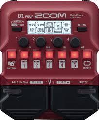 Мульти педаль <b>эффектов</b> для бас-гитары <b>Zoom B1</b> Four — купить ...
