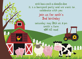 birthday party invitation templates invitations design farm animal birthday party invitation templates