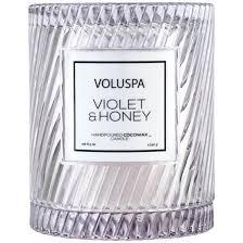 <b>VIOLET &</b> HONEY Фиалки и мёд Большая <b>свеча</b> в стекле с ...