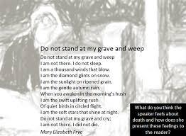 unseen poetry miss ryan s gcse english media unseen poem grave weep