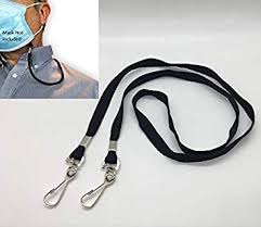 5 Pack- <b>Face Mask</b> Lanyard for Adults/Kids – Safety mask Clip <b>Holder</b>