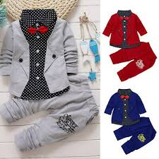 Infant <b>Kid Baby Boy Gentry</b> Clothes Set Party Christening Wedding ...