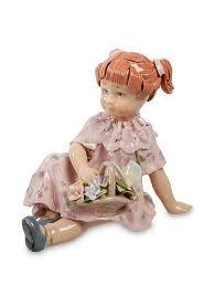 Статуэтка ''Девочка С Цветами'' <b>Pavone</b> 426199 в интернет ...