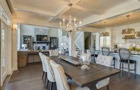 this white contemporary dining room has an elegant coffered ceiling and plush dining chairs that are brilliant 12 elegant rustic